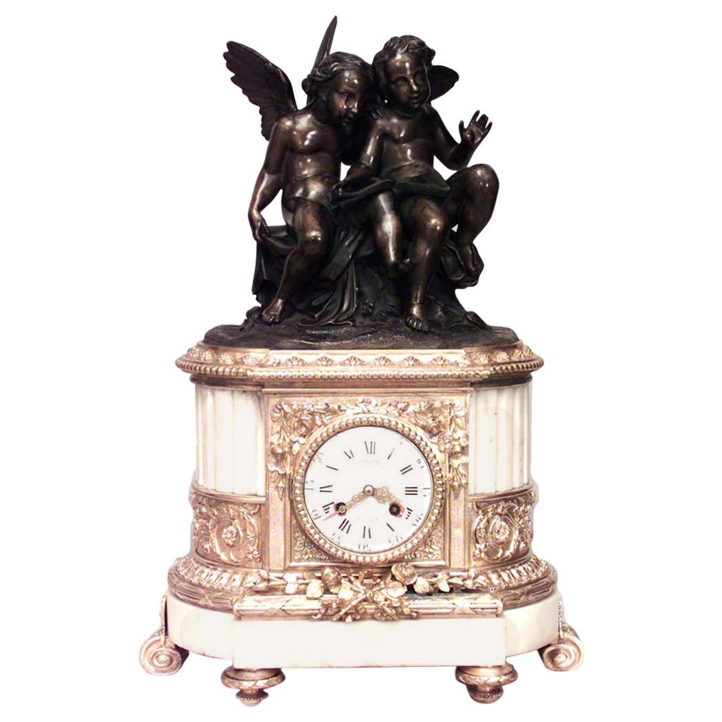French Louis XVI Cupid Mantel Clock