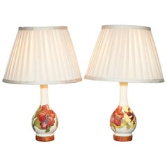 Pair of Vintage Moorcroft Vase Lamps Fully Restored and Converted Lovely, Pair