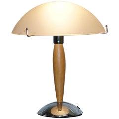 Coolen Mitte des Jahrhunderts Moderner Stil Tischleuchte mit opalisierenden Schirmen Chrome & Holz