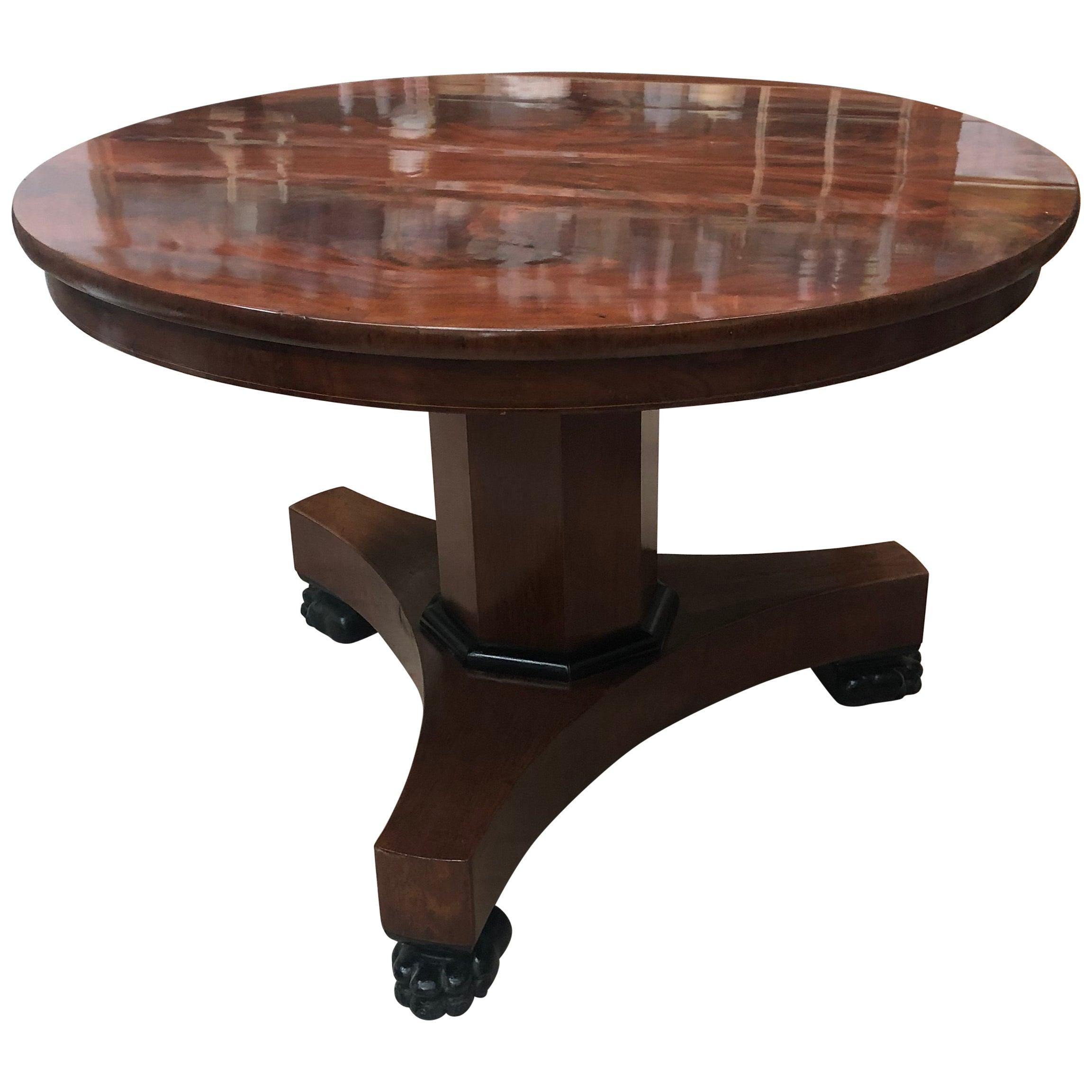 Empire Mahogany Tilt-Top Dining Table, 19th Century