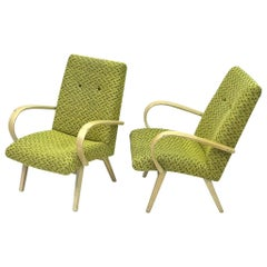 "Set of Two Armchairs by J. Halabala, ""1960"""