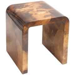 Karl Springer Goatskin Side Table