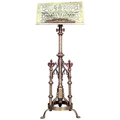 English Gothic Revival Style Brass Lectern