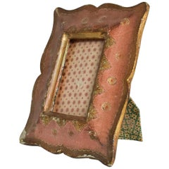 Antique Italian Picture Frame Hand Decorated Beautiful Patina