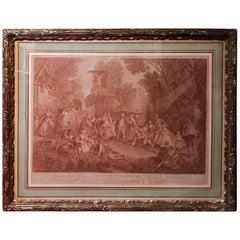 18th Century French Engraving, Le Jeu De Colin Maillard, After Nicolas Lancret