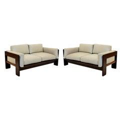 Mid-Century Modern 2 Bastiano Rosewood Sofa Tobia Scarpa Gavina Knoll 1968 Italy
