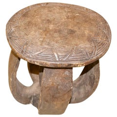 Andrianna Shamaris African Wood Side Table or Stool