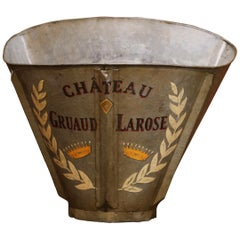 19th Century French Hand Painted Tole Grape Basket from Bordeaux