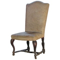 Venetian 18th Century Rococo Large Walnut Side Chair