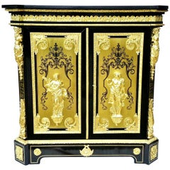 Stunning Napoleon III Boulle Cabinet by Befort Jeune, France, 19th Century