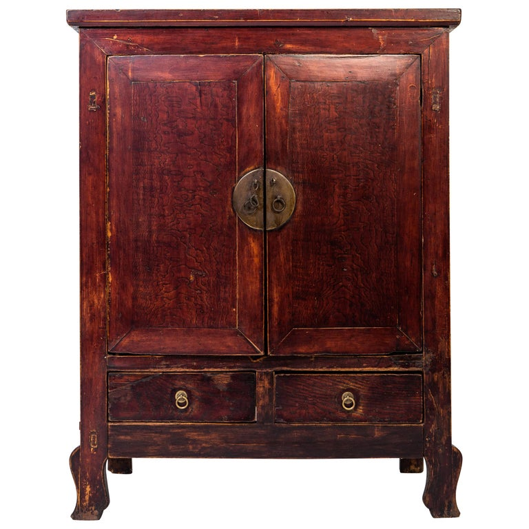Late-Qing Dynasty Cabinet with Two Drawers and Two Doors For Sale