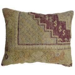 Purple Oushak Rug Pillow