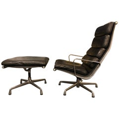 Eames for Herman Miller Soft Pad Lounge Chair and Ottoman