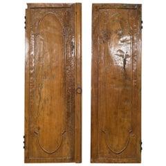 19th Century Wooden Armoire Doors, circa 1800s