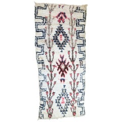 Vintage Berber Moroccan Azilal Rug with Bohemian Tribal Style