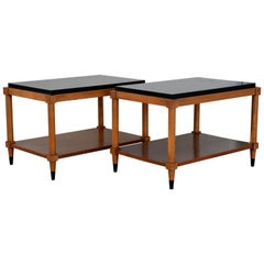 Pair of Chic Neoclassical End or Side Tables by Lane