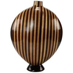 """""""Celina"""" Vase with Light and Dark Banana Bark Inlay, 1990s"""