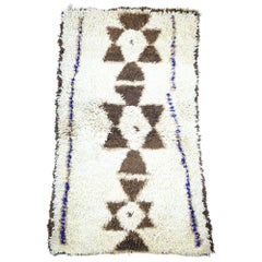 Vintage Berber Boucherouite Moroccan Azilal Rug with Bohemian Tribal Style