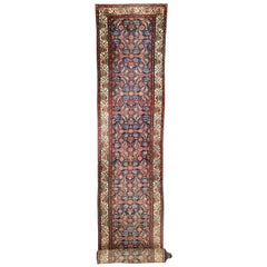 Antique Persian Malayer Runner with Victorian Style, Extra-Long Hallway Runner