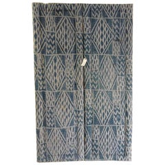Vintage French Screen with Ikat Fabric