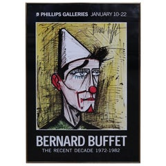 Framed Bernard Buffet Exhibition Poster
