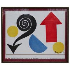 Framed Alexander Calder Exhibition Poster