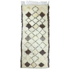 Vintage Moroccan Azilal Rug, Neutral Berber Moroccan Rug with Neutral Colors