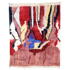 Contemporary Moroccan Rug with Postmodern Bauhaus Style