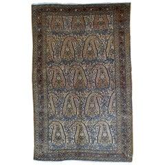 Handmade Antique Bibikabad Style Rug, 1900s, 1B33