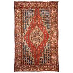 Handmade Antique Mazlahan Style Rug, 1920s, 1B35