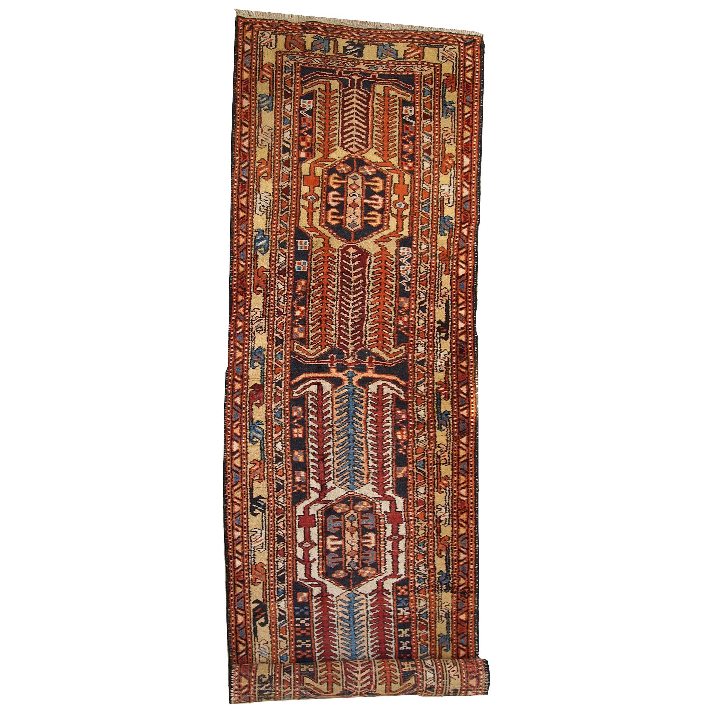 Handmade Antique Heriz Style Rug, 1930s, 1C284
