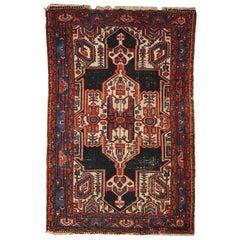 Handmade Antique Hamadan Style Rug, 1920s, 1C321