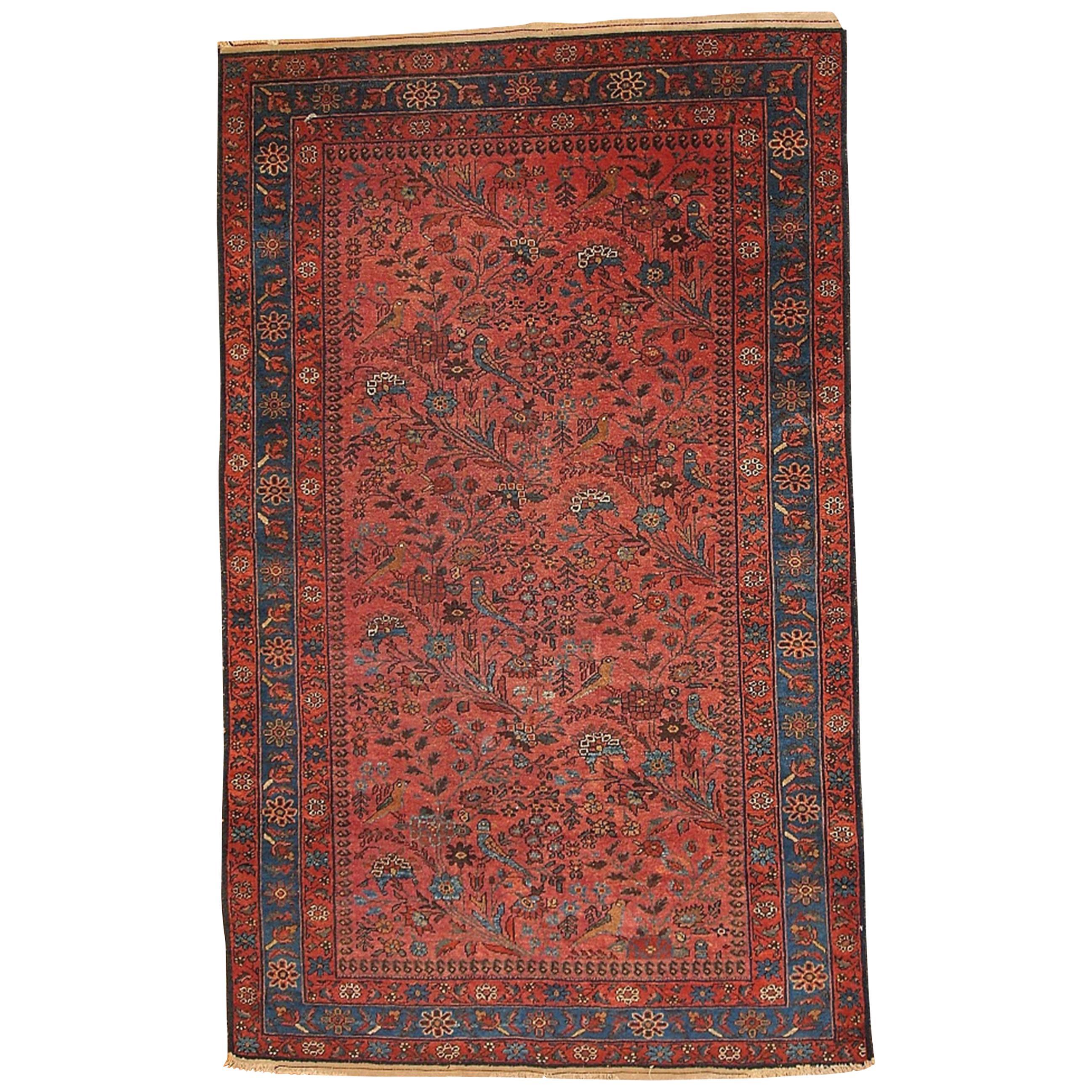 Handmade Antique Lilihan Style Rug, 1920s, 1B129