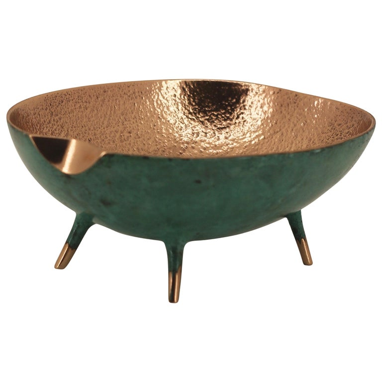 Bronze Bowl with Legs, Vide-Poche For Sale