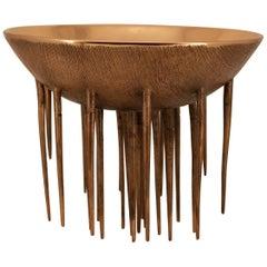 Einzigartig und Original handgefertigte gegossen Bronze dekorative Schale
