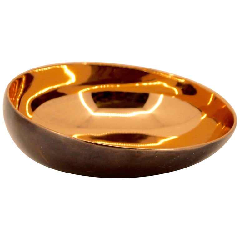 Handmade Cast Bronze Indian Bowl, Vide-Poche For Sale