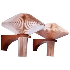 Vilhelm Wohlert Pair of Wall Lamps, Denmark