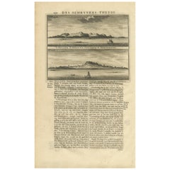 Antique Print of the Islands Cambayna and Solombo by Valentijn, 1726