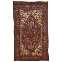 Handmade Antique Bidjar Style Rug, 1880s, 1B194