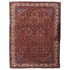 Handmade Antique Mahal Style Rug, 1900s, 1B212