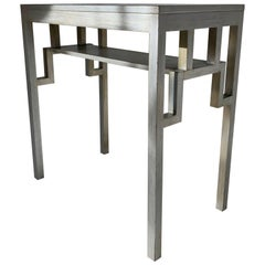 1920s to 1940s Japanesque Silvered Mirrored Console, Table or Desk by Rowley, UK