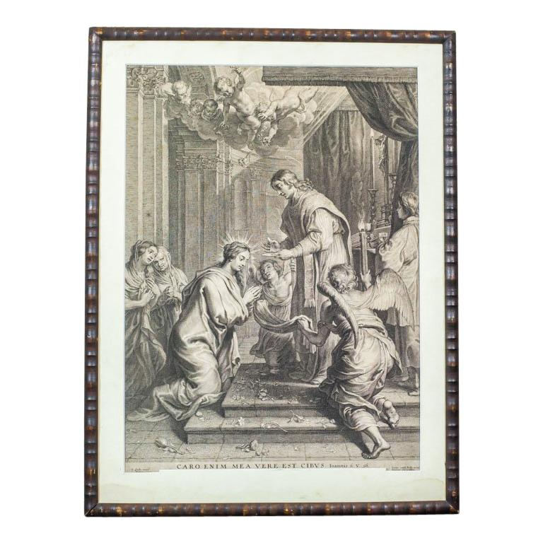 18th Century Engraving Depicting a Religious Scene