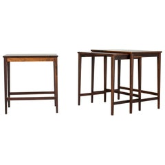 Midcentury Swedish Rosewood Nesting Tables