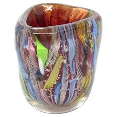 Millefiori Zahnstocher Inhaber Catchall Murano Glas Vintage, Italien, 1950er Jahre