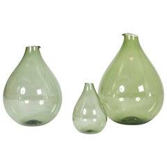 Set of Three Glass Vases by Kjell Blomberg