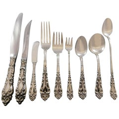 Athene Crescendo by Amston Sterling Silver Flatware Set 12 Service 118 Pc Dinner