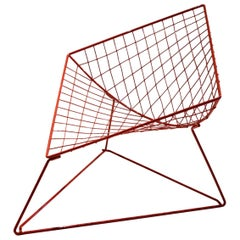"""Red """"Oti"""" Chair by Niels Gammelgaard for Ikea, Sweden 1986"""
