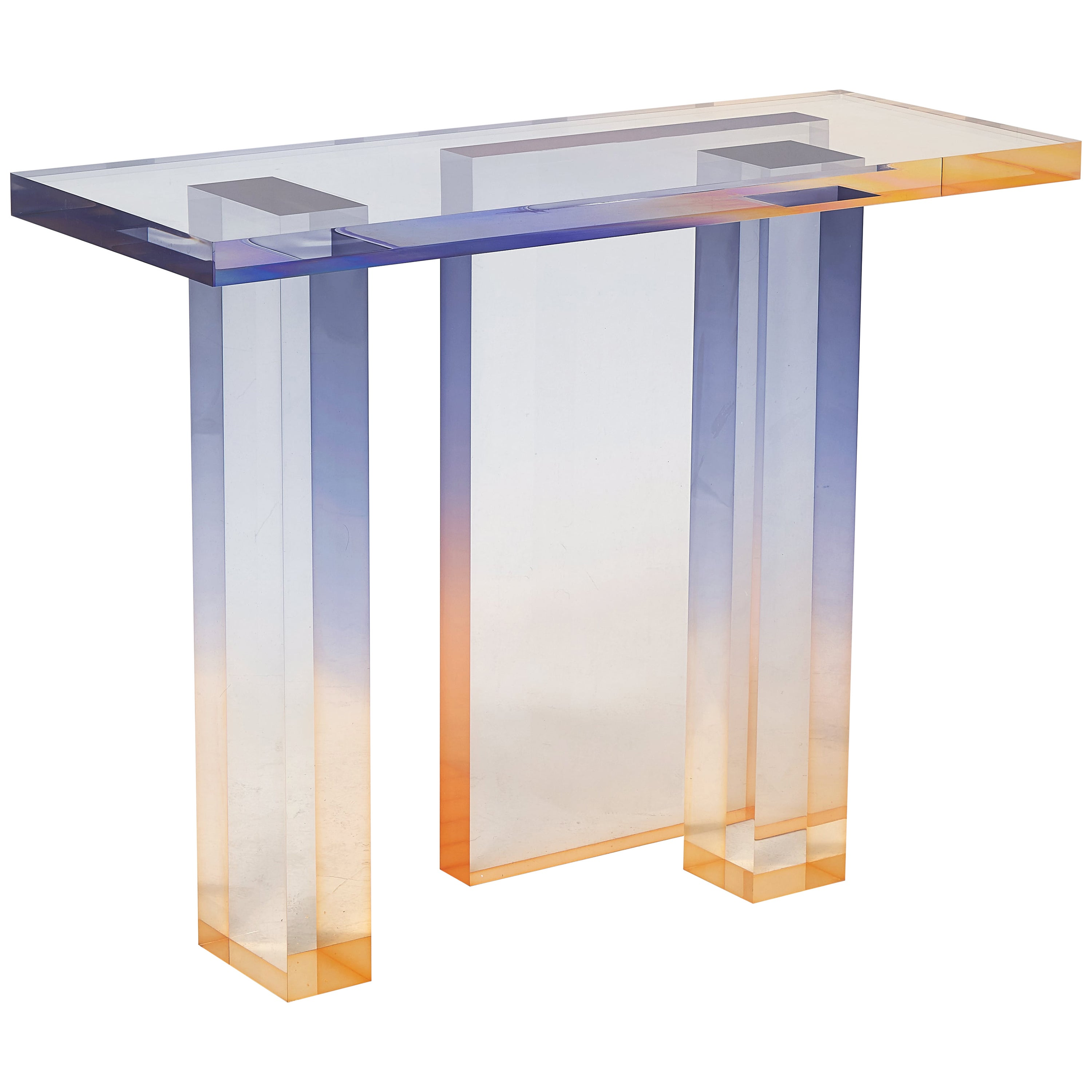 Crystal Series Console Table 04 in Acrylic