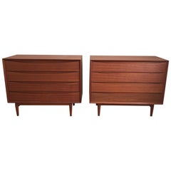 Pair of Arne Vodder for Sibast Danish Chests in Teak