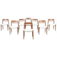 Alf Aarseth Model-145 Dining Chairs for Gustav Bahus & Eft